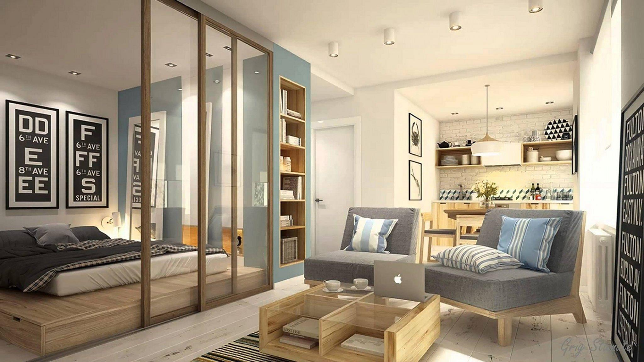 Partition For Studio Apartment Design Ideas – DECOREDO