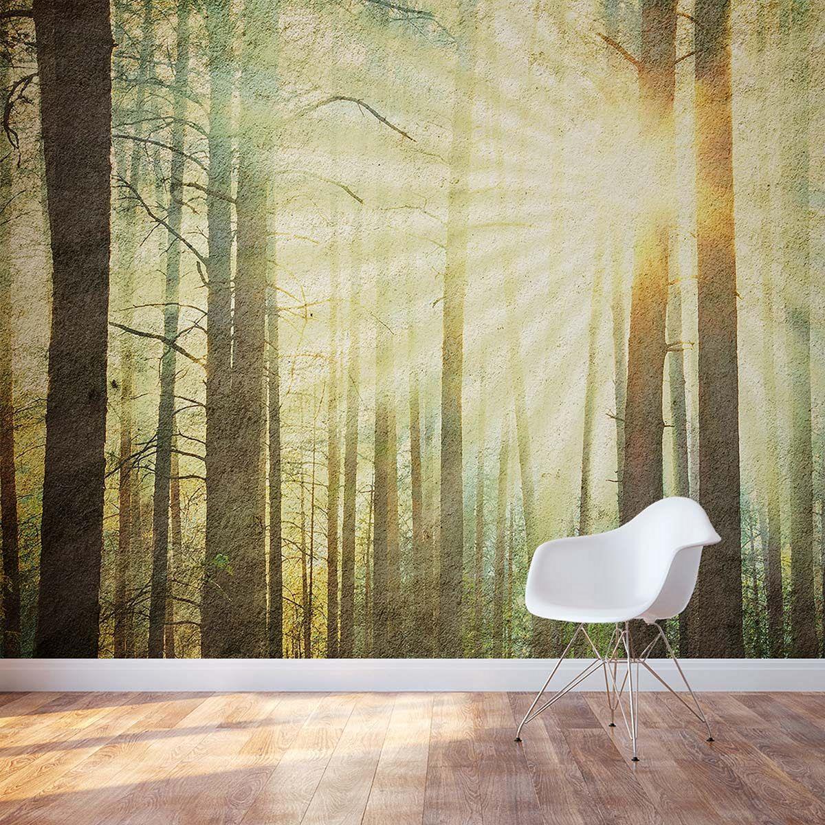 3D Pine Forest Wall Ideas