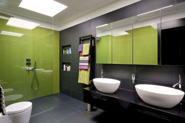 Bathroom Green Color Integration 01