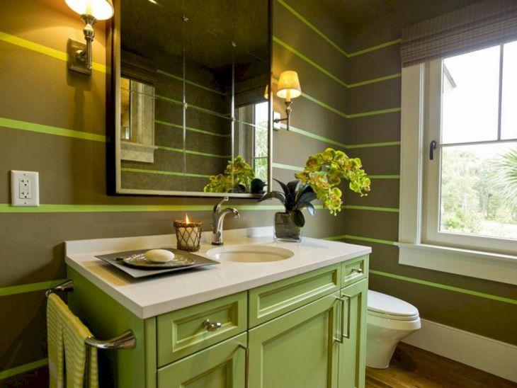 Bathroom Green Color Integration 02