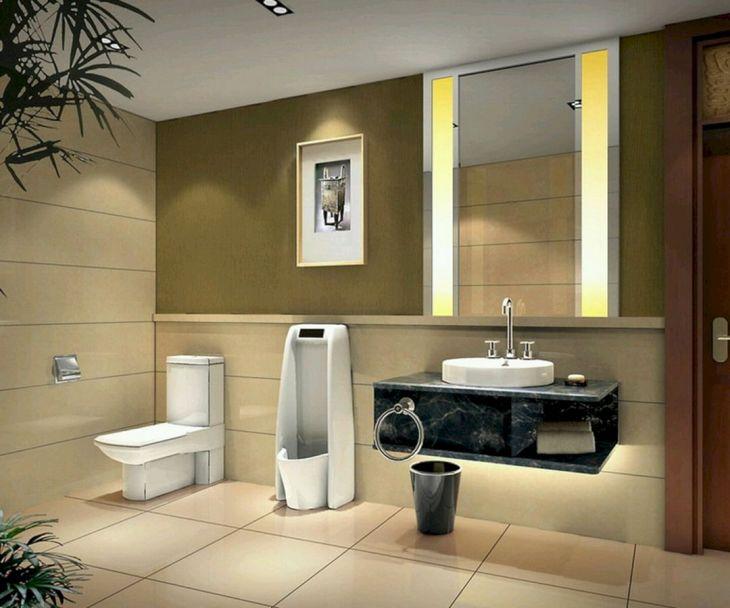 Bathroom Metallic and Eclectic Design 01