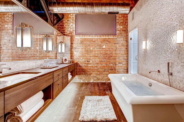 Brick Wall Bathroom Design Source ritadominic net