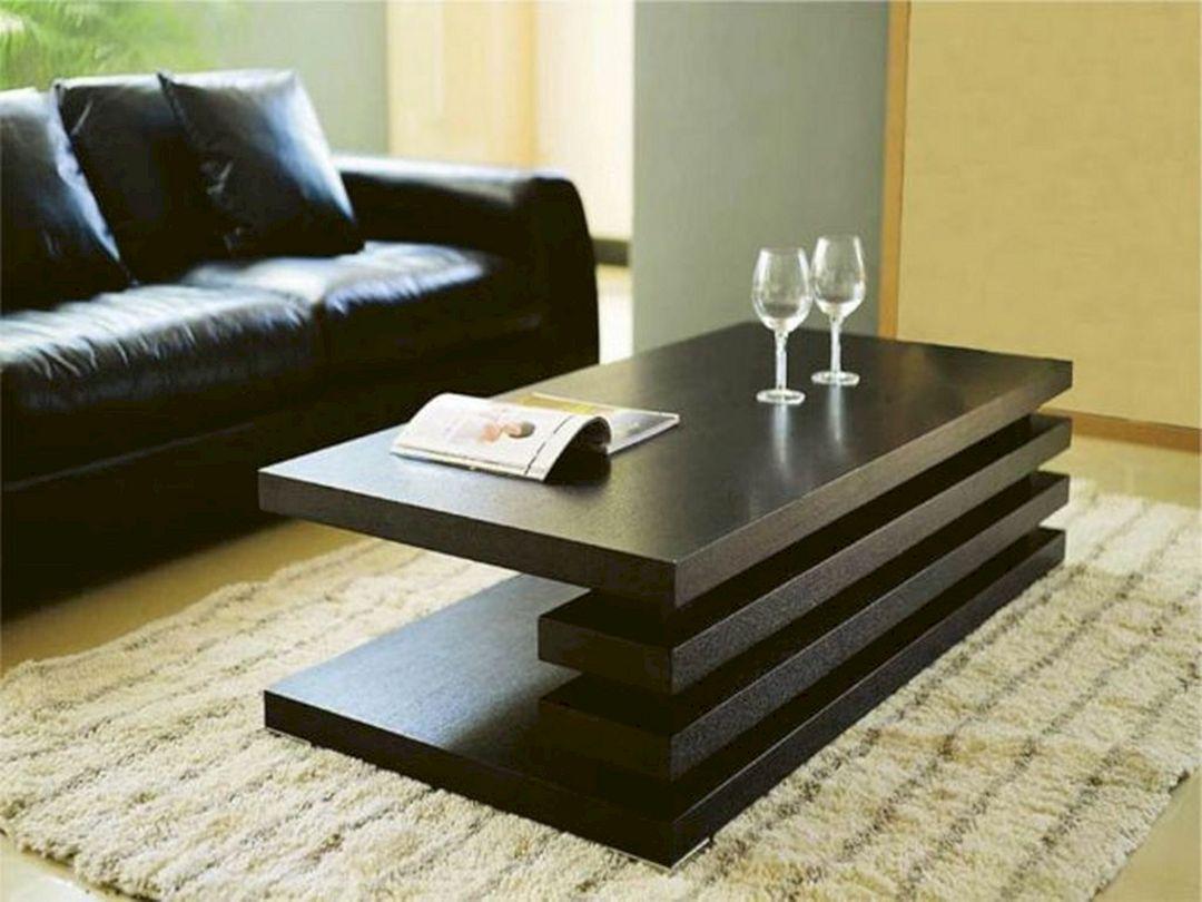 Minimalist Wood Living Room Table