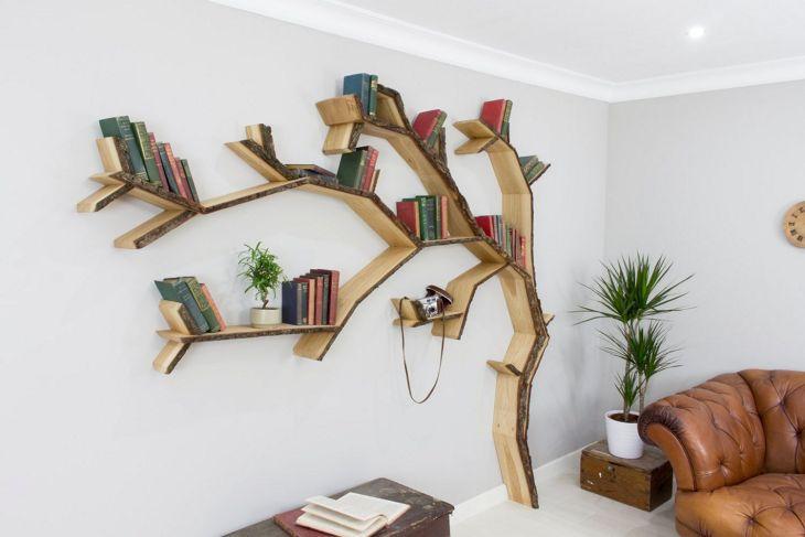 Unique Tree Shape Bookshelf source housely com