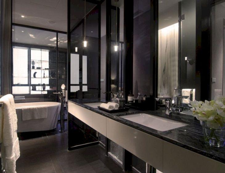 Black And White Bathroom Interior