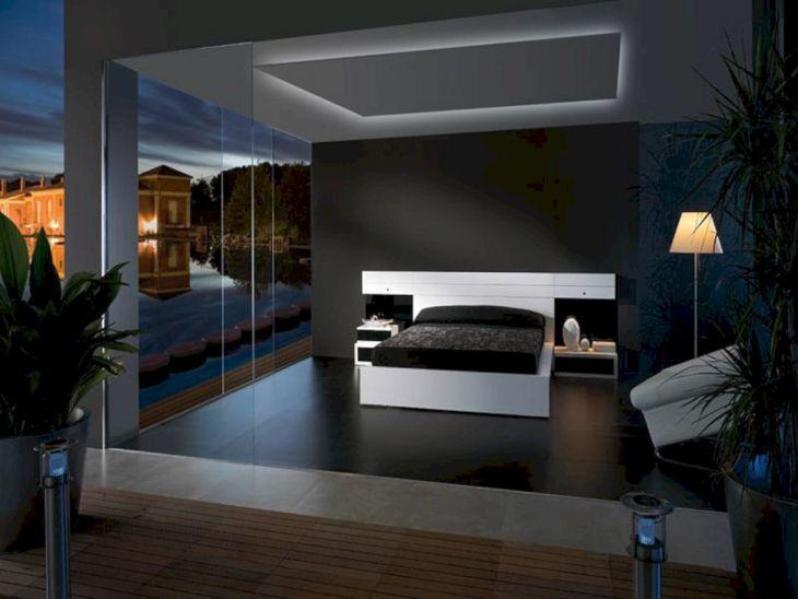 Black Bedroom Wall Design
