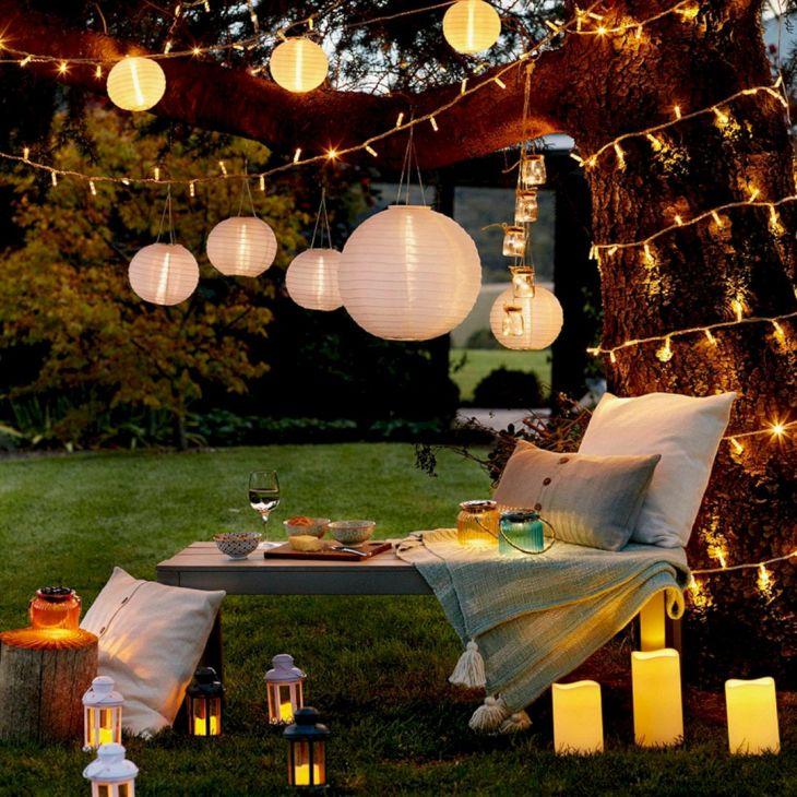 DIY Garden Lampion