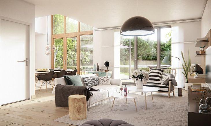 Scandinavian Home Design With Open Concept