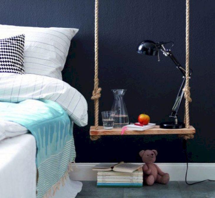 Bedroom DIY Hanging Side Table