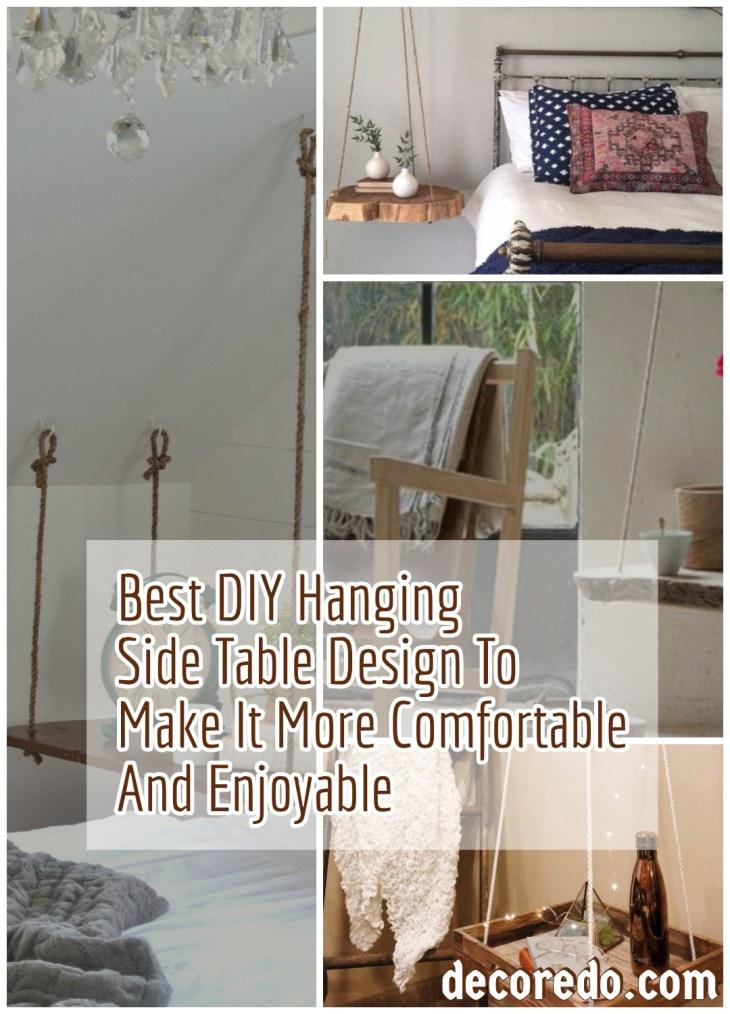 Best DIY Hanging Side Table Design