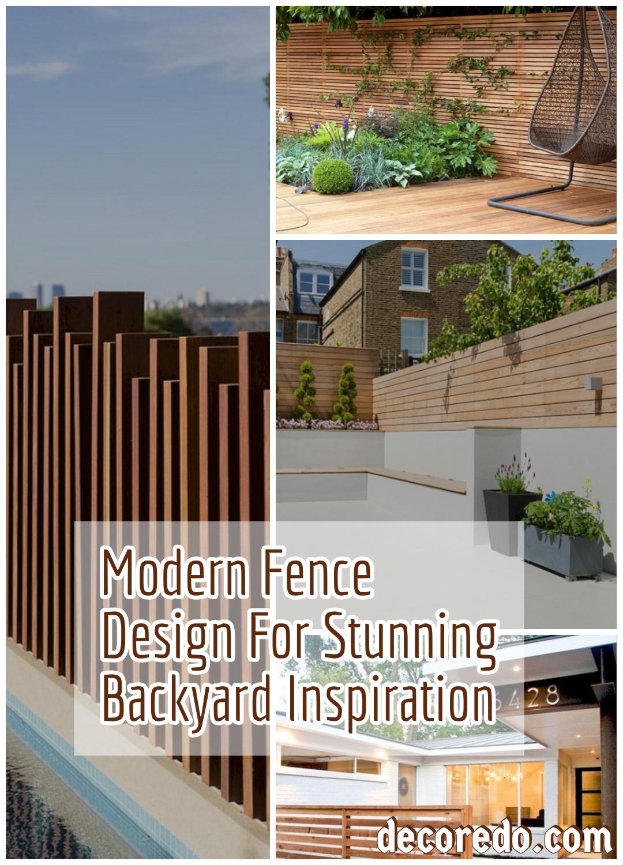 Modern Fence Design For Stunning Backyard Inspiration