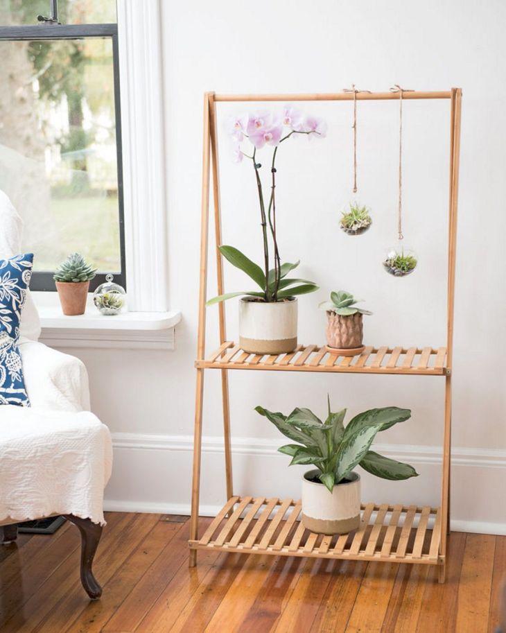 Bamboo Planter Shelf Ideas