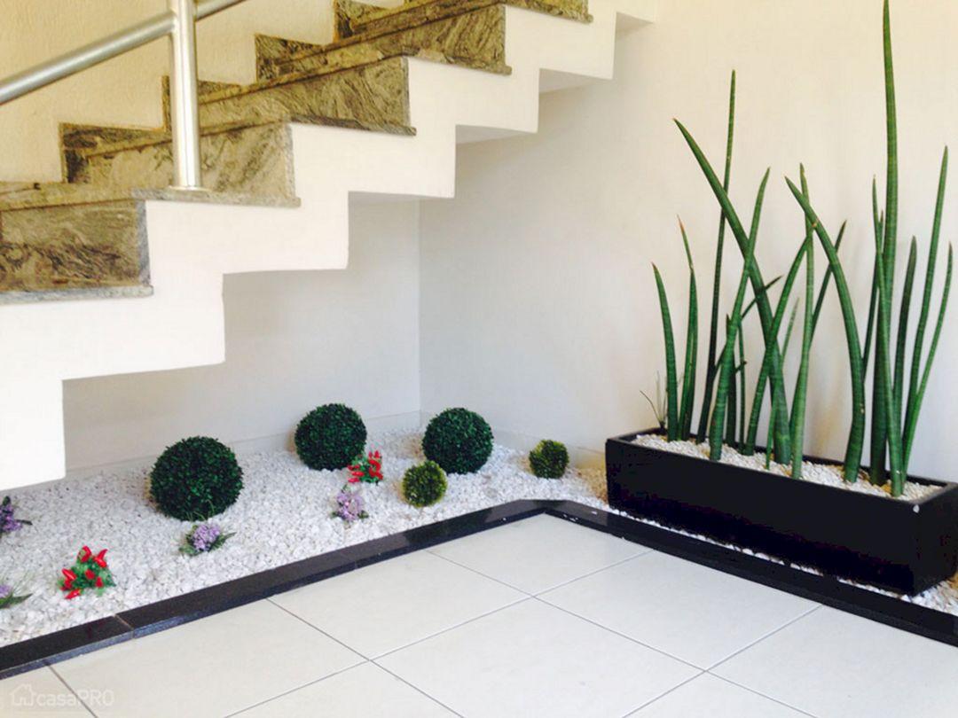 Indoor Garden With Under Stairs Ideas