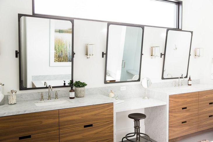 Modern Master Bathroom Mirror Ideas