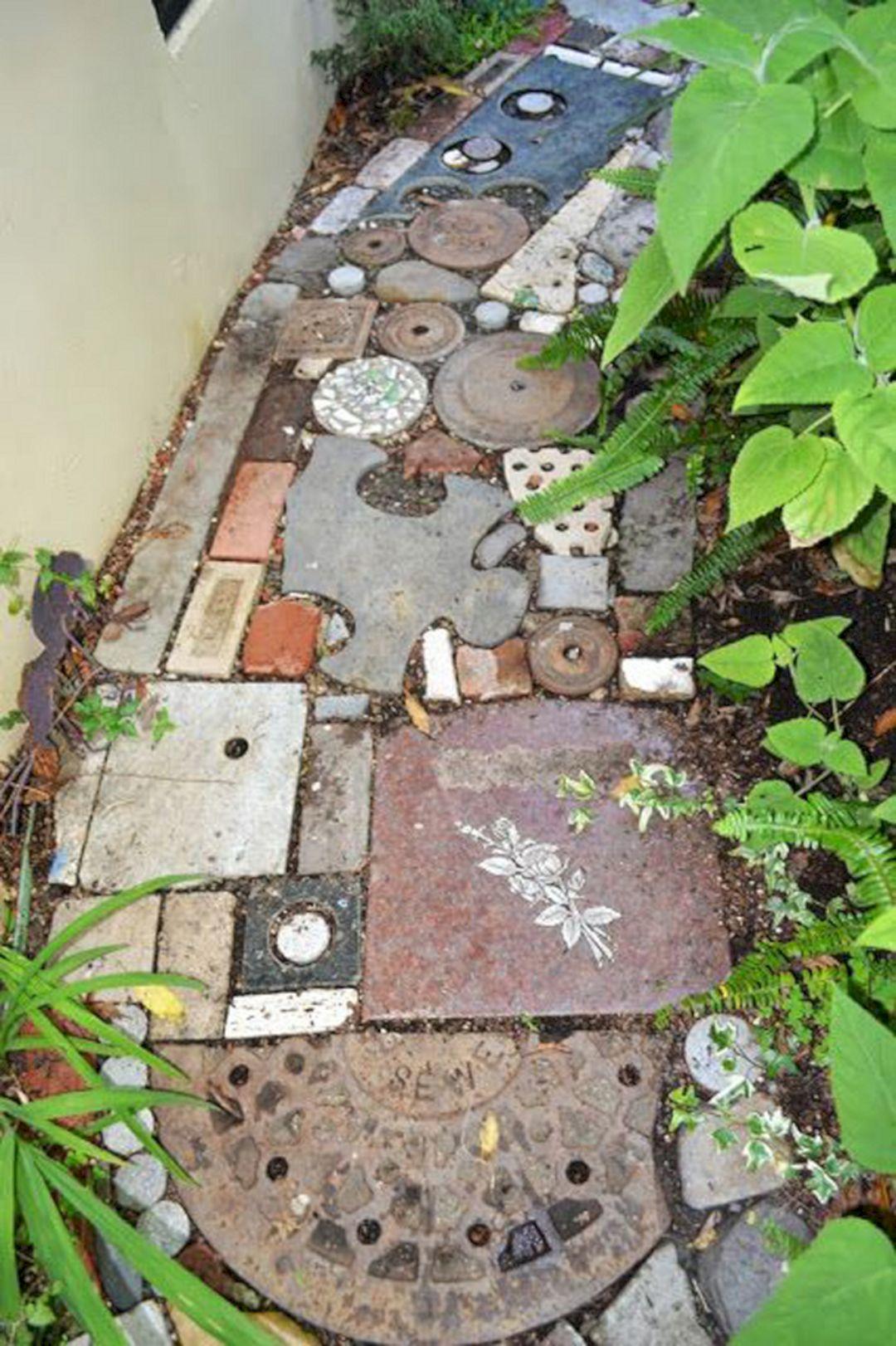 Reclaimed DIY Garden Path Ideas