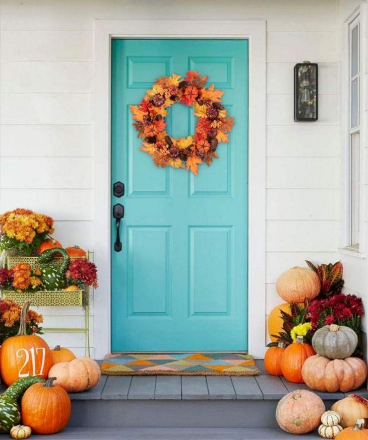 Fornt Porch Pumpkin Ideas