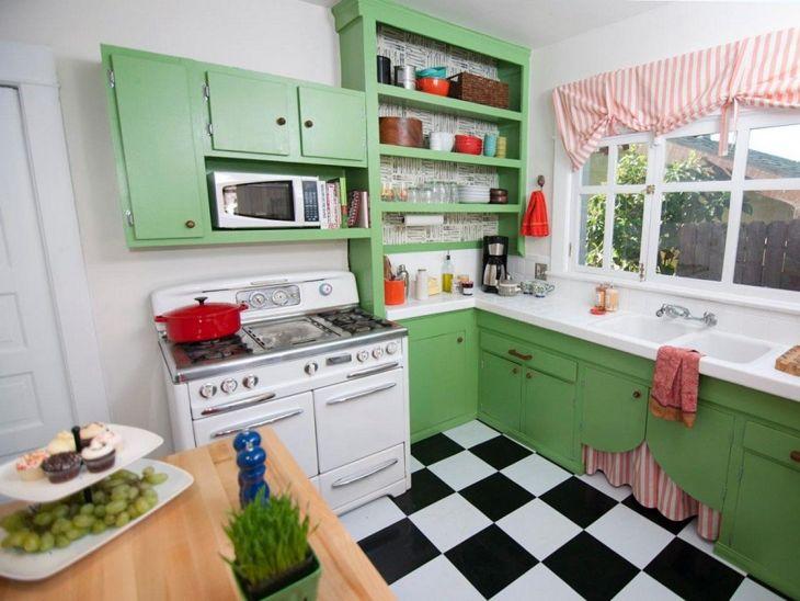 Retro Kitchen Color Combination Ideas