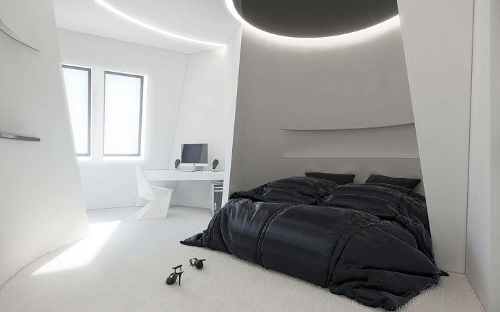 Minimalist Futuristic Bedroom Ideas
