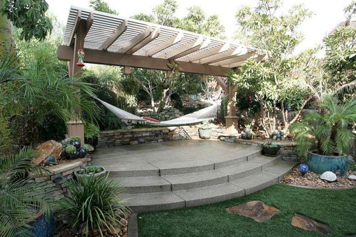 Summer backyard Hammock Ideas