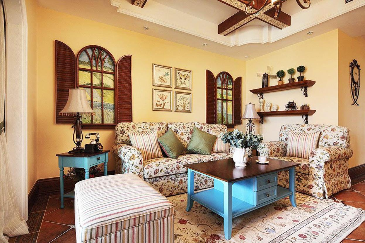 Country Style Living Room Furniture Ideas 11