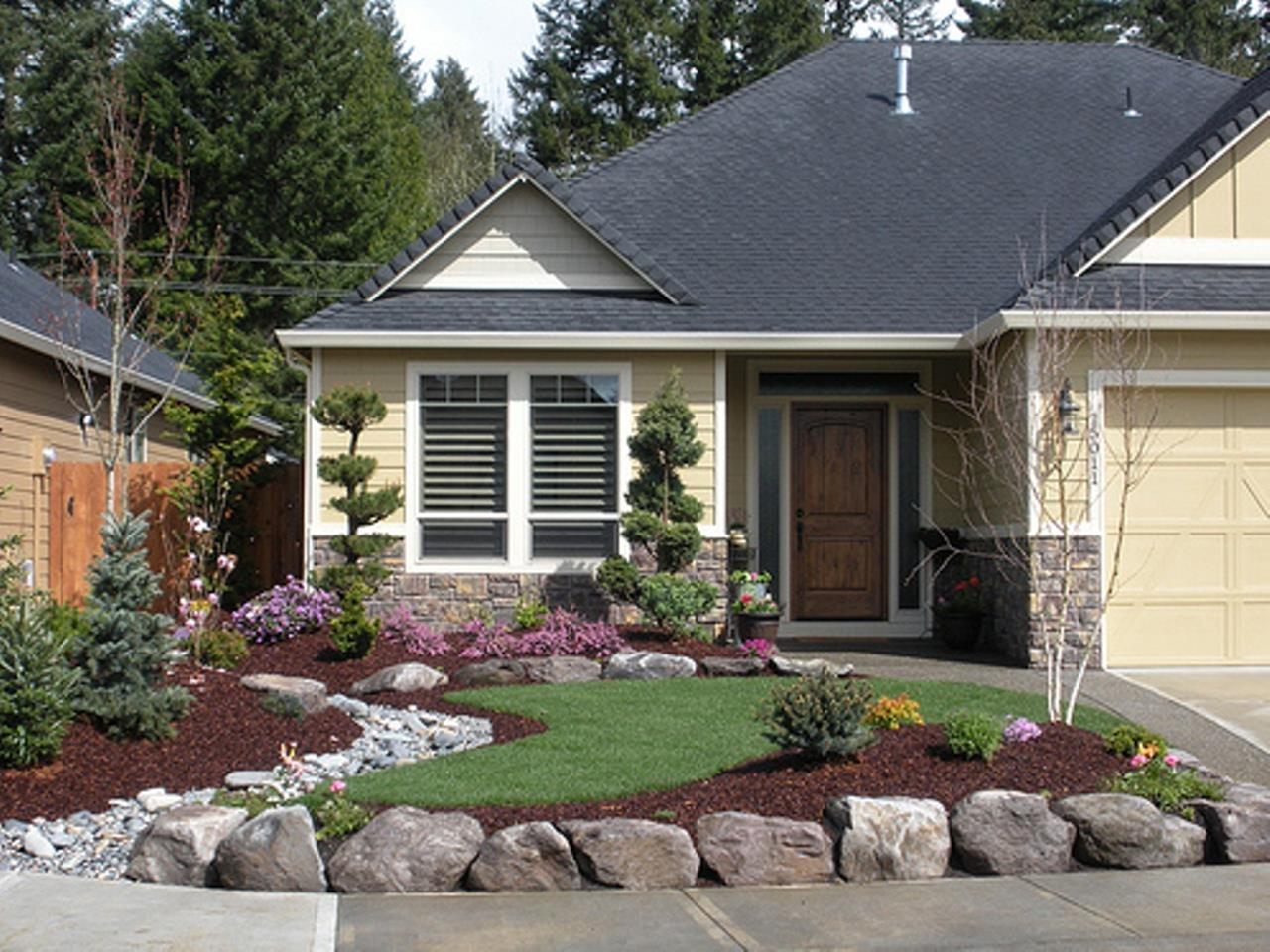 Front Yard Landscaping With Rocks 25
