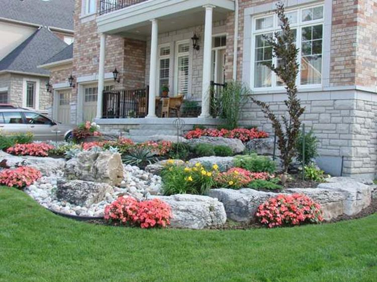 Front Yard Landscaping With Rocks 5
