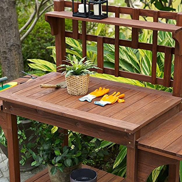 Outdoor Garden Potting Bench Design Ideas 10