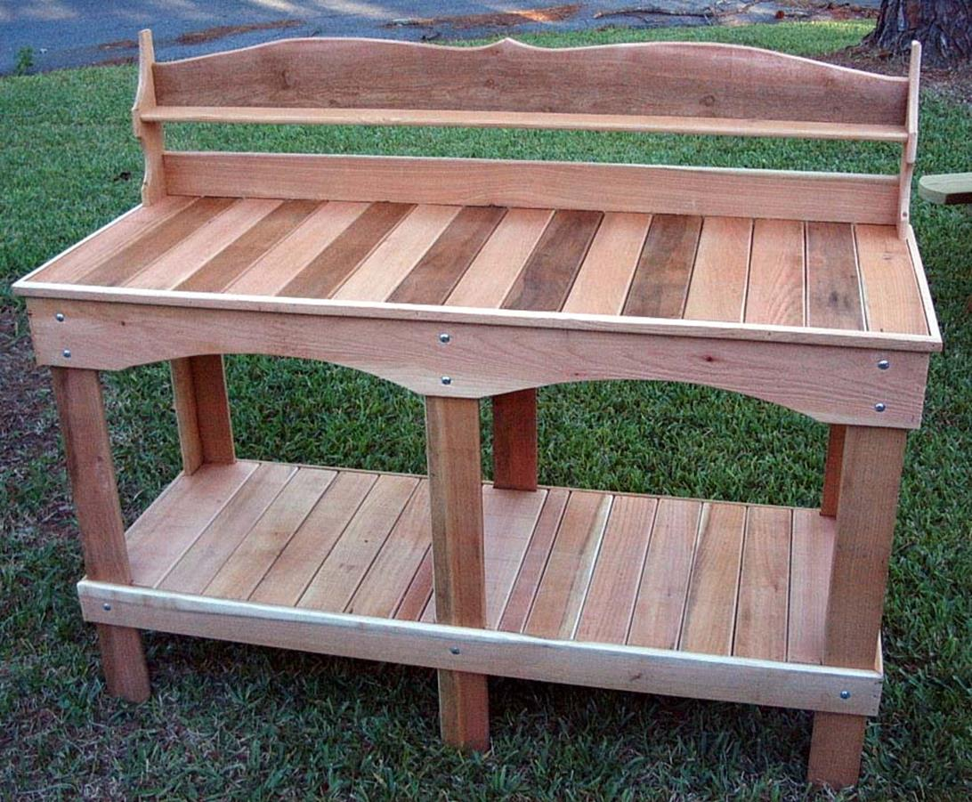 Outdoor Garden Potting Bench Design Ideas 18