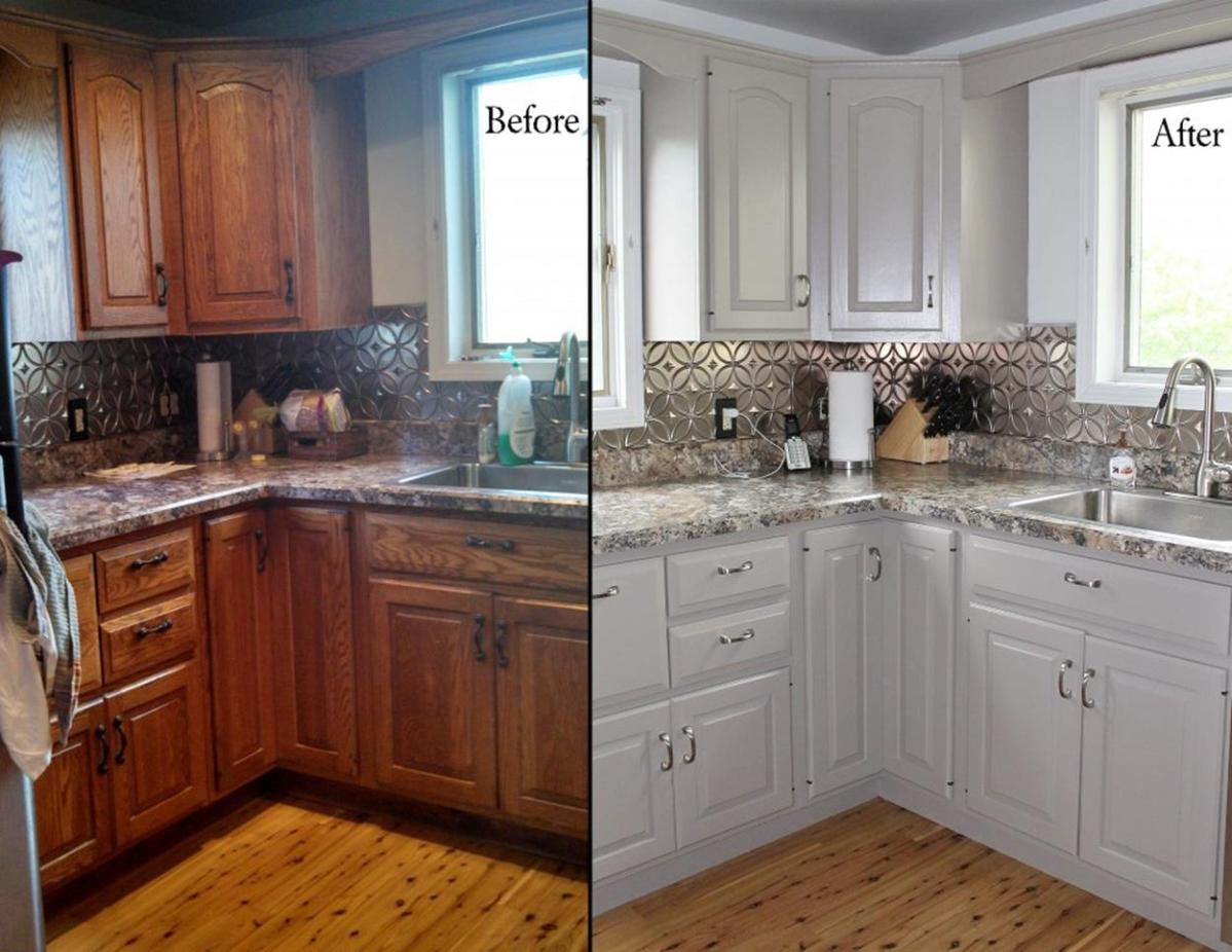 Painted Kitchen Cabinets Before And After 12