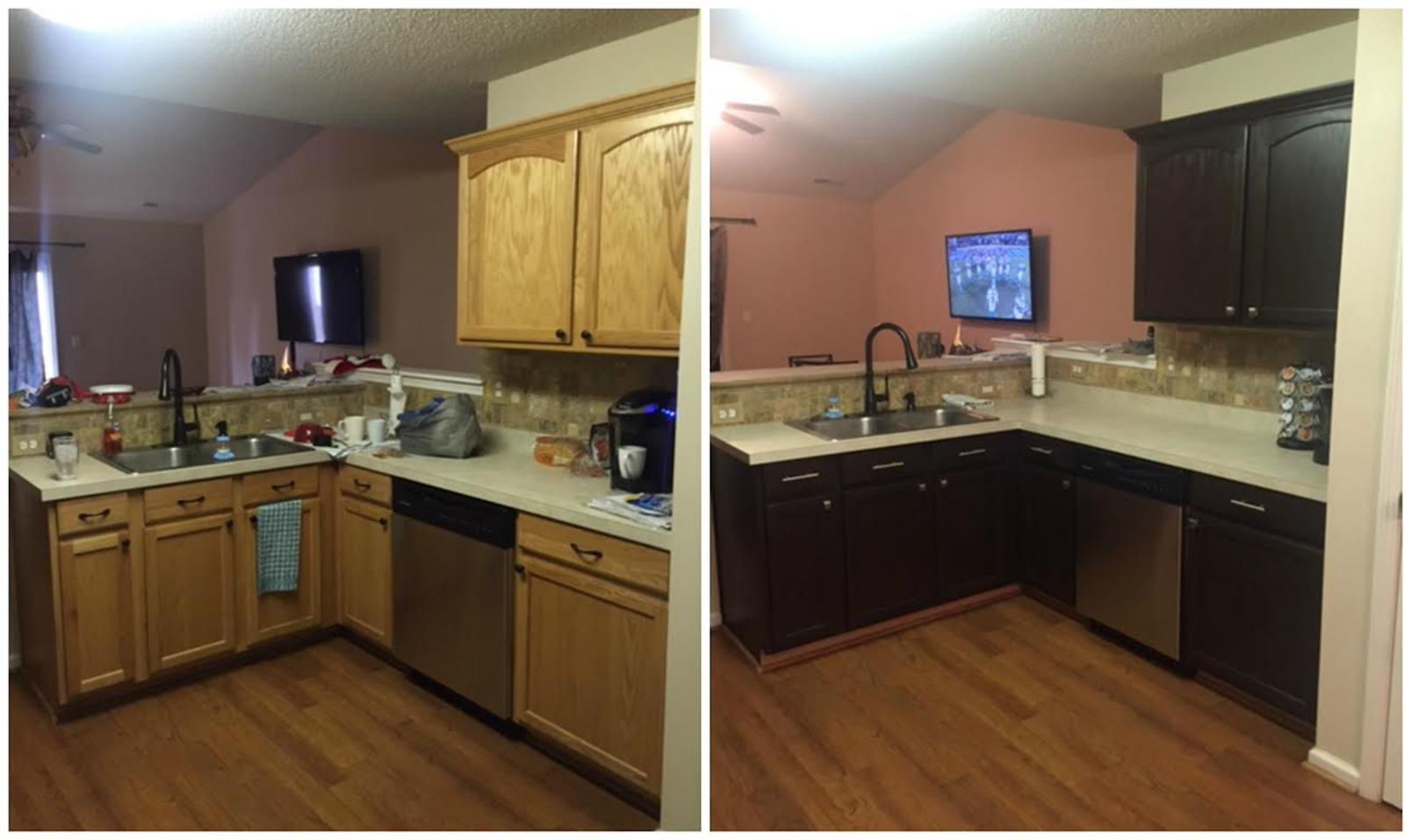 Painted Kitchen Cabinets Before And After 2