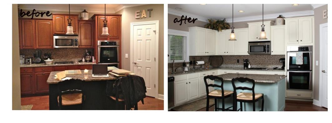Painted Kitchen Cabinets Before And After 23