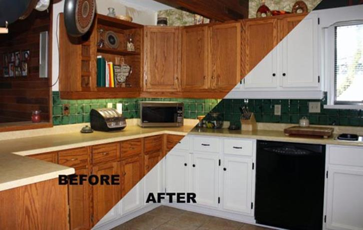 Painted Kitchen Cabinets Before And After 24