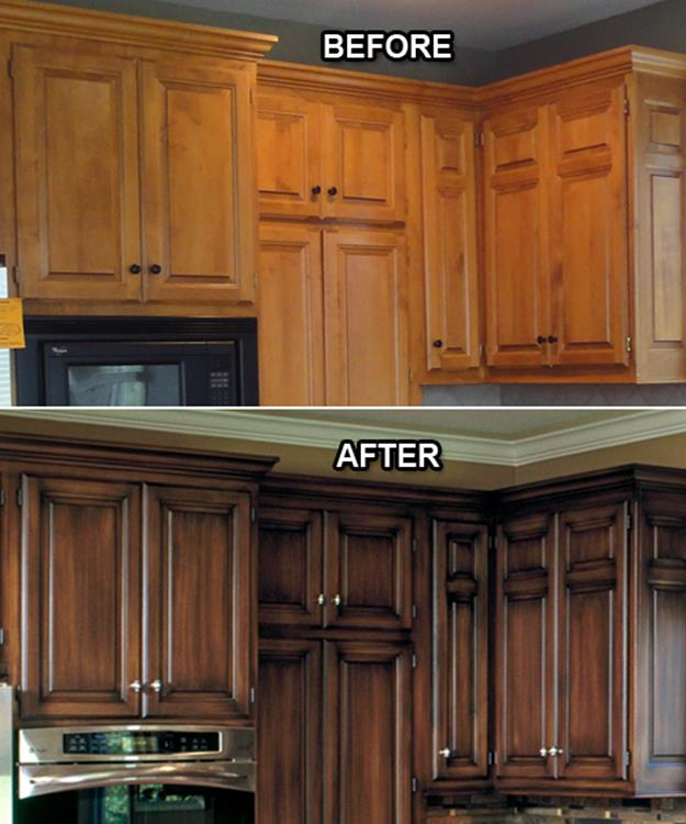 Painted Kitchen Cabinets Before And After 26