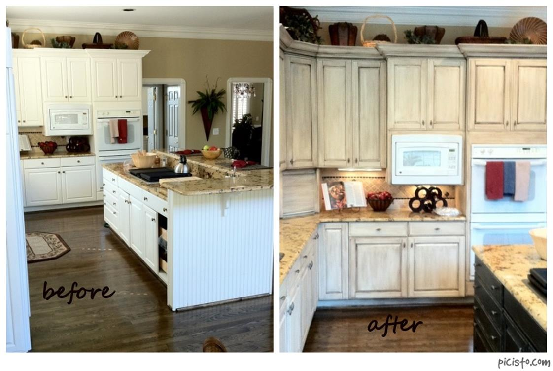 Painted Kitchen Cabinets Before And After 39