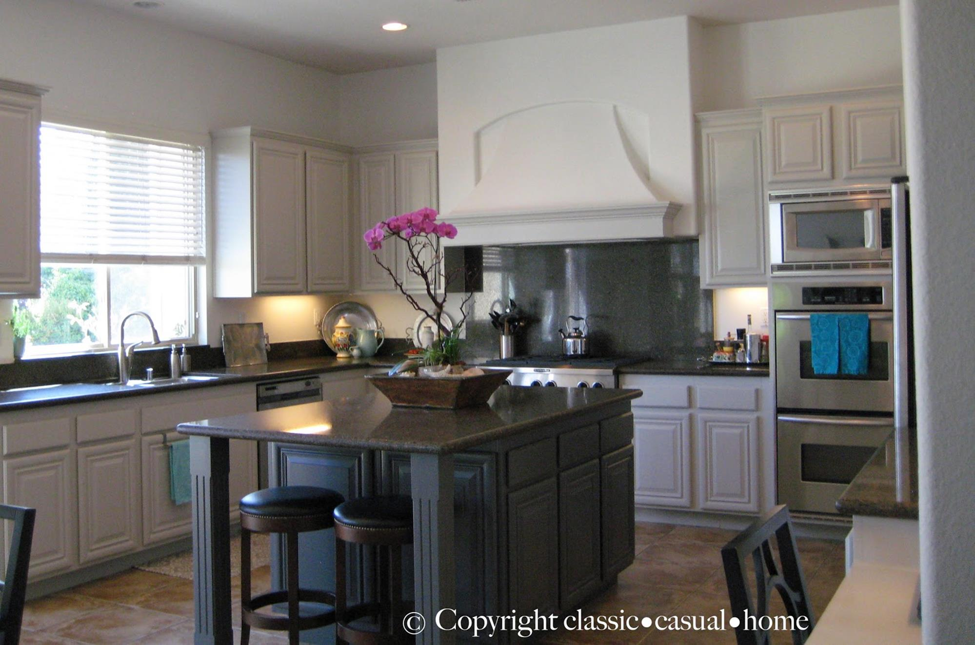 Painted Kitchen Cabinets Before And After 4