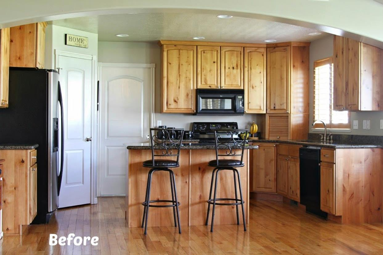 Painted Kitchen Cabinets Before And After 6