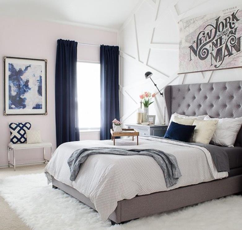 Blue And Beige Bedrooms Decorating Ideas 1