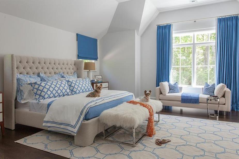 Blue And Beige Bedrooms Decorating Ideas 13