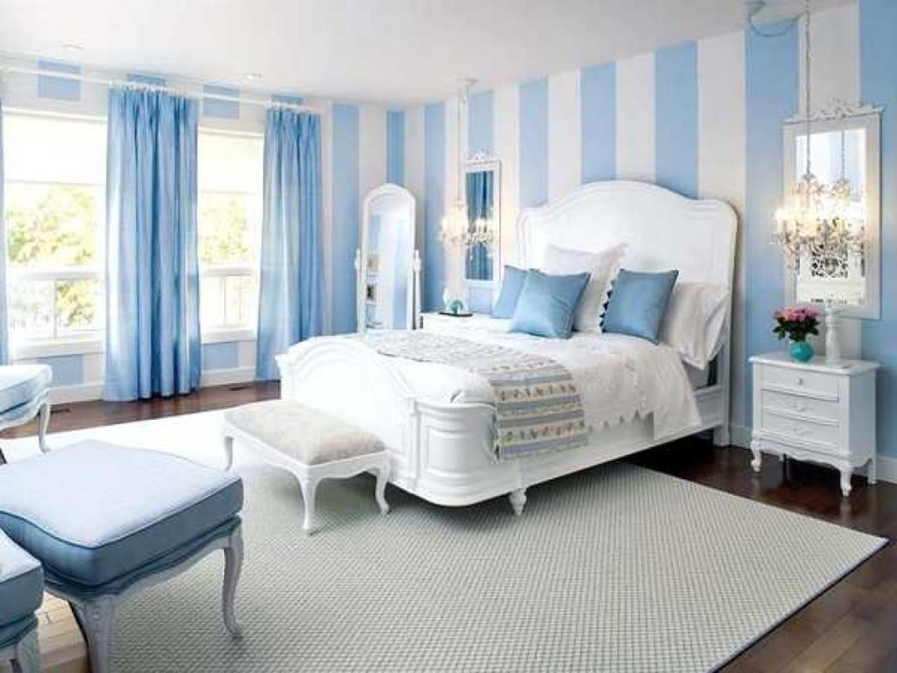 Blue And Beige Bedrooms Decorating Ideas 37