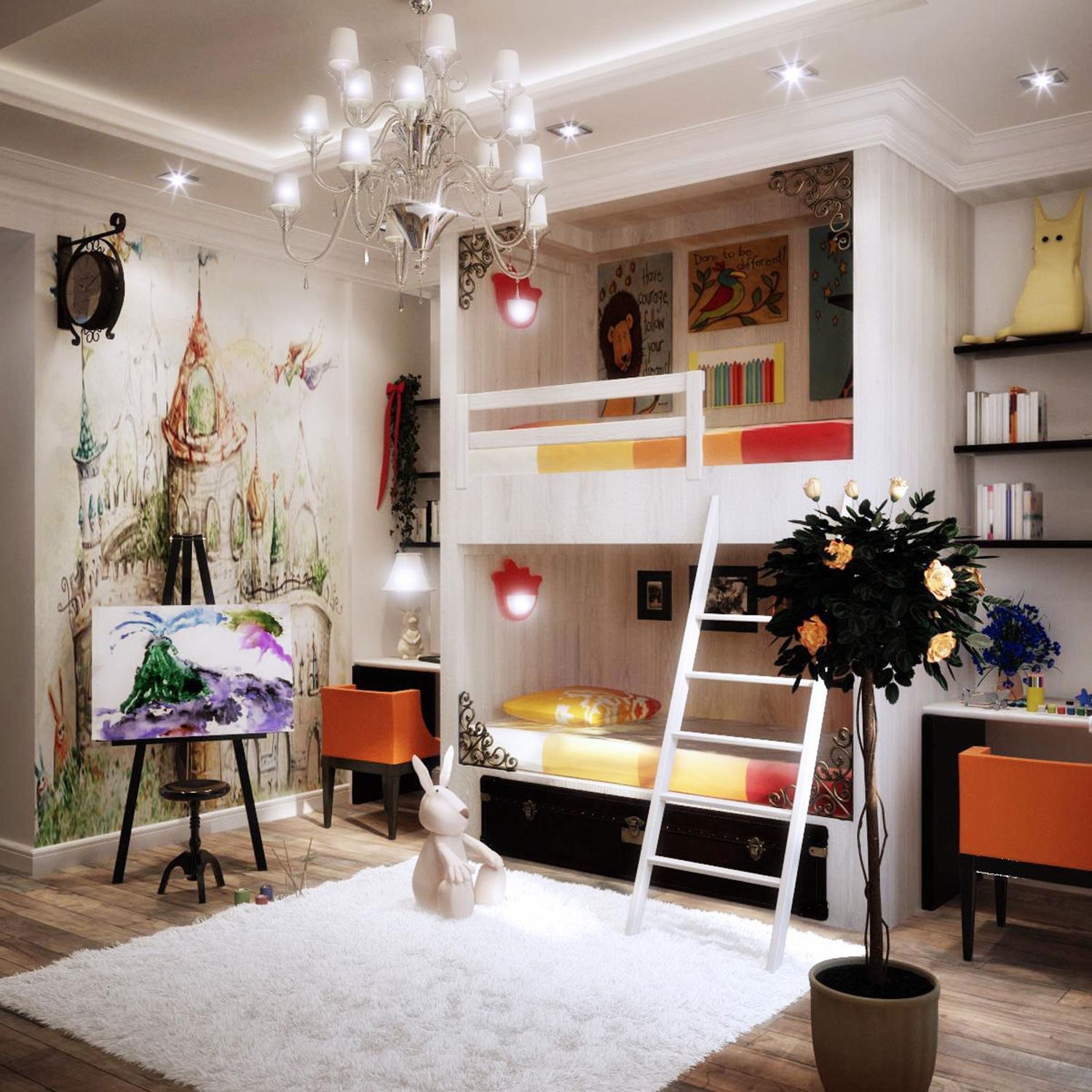 Color Full Kids Room Decorating Ideas On A Budget 36