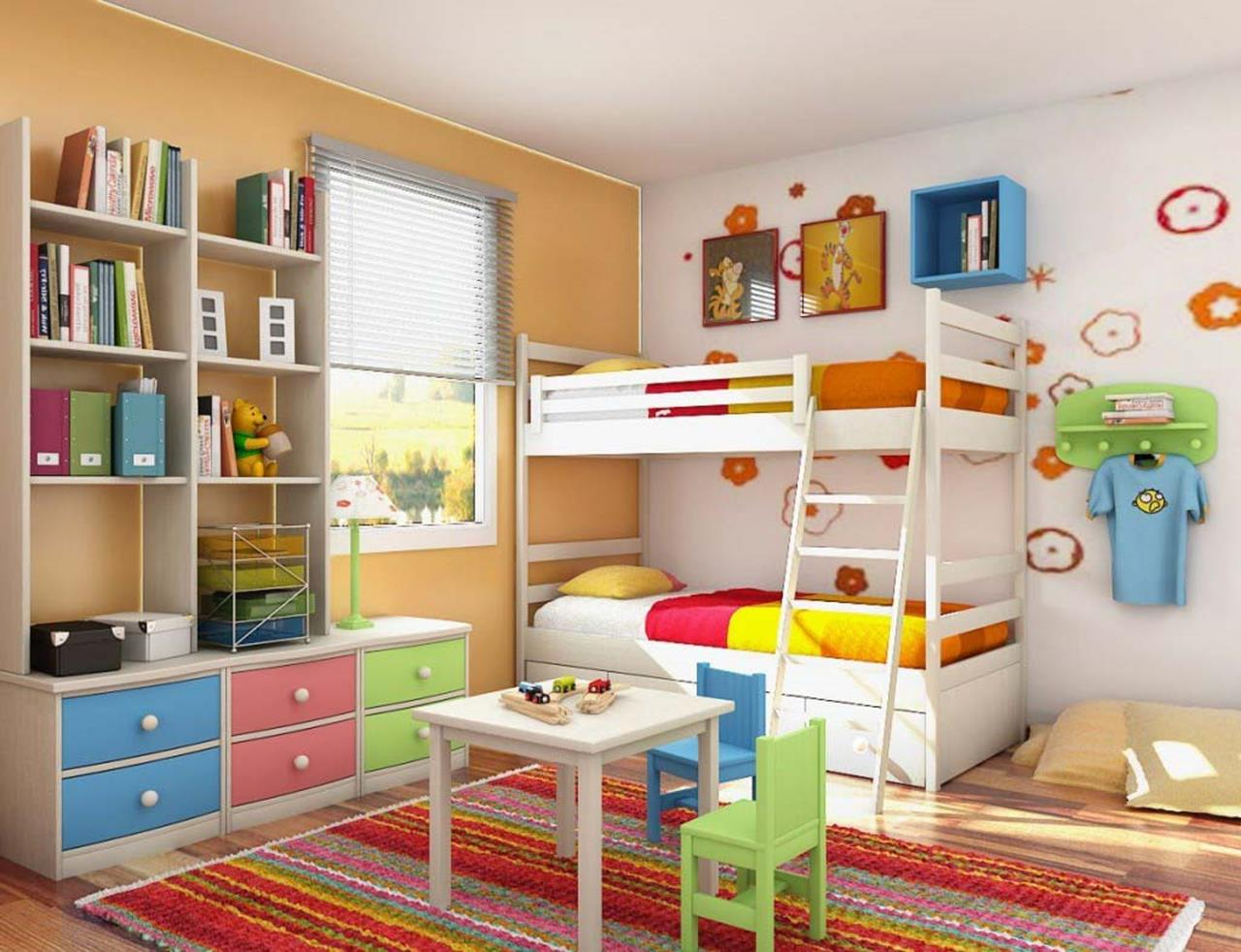 Color Full Kids Room Decorating Ideas On A Budget 9
