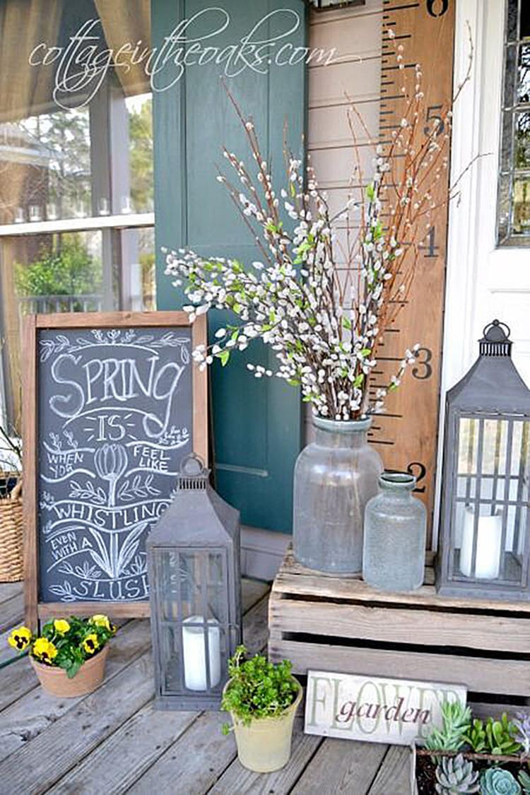 Country Front Porch Spring Decorating Ideas 10