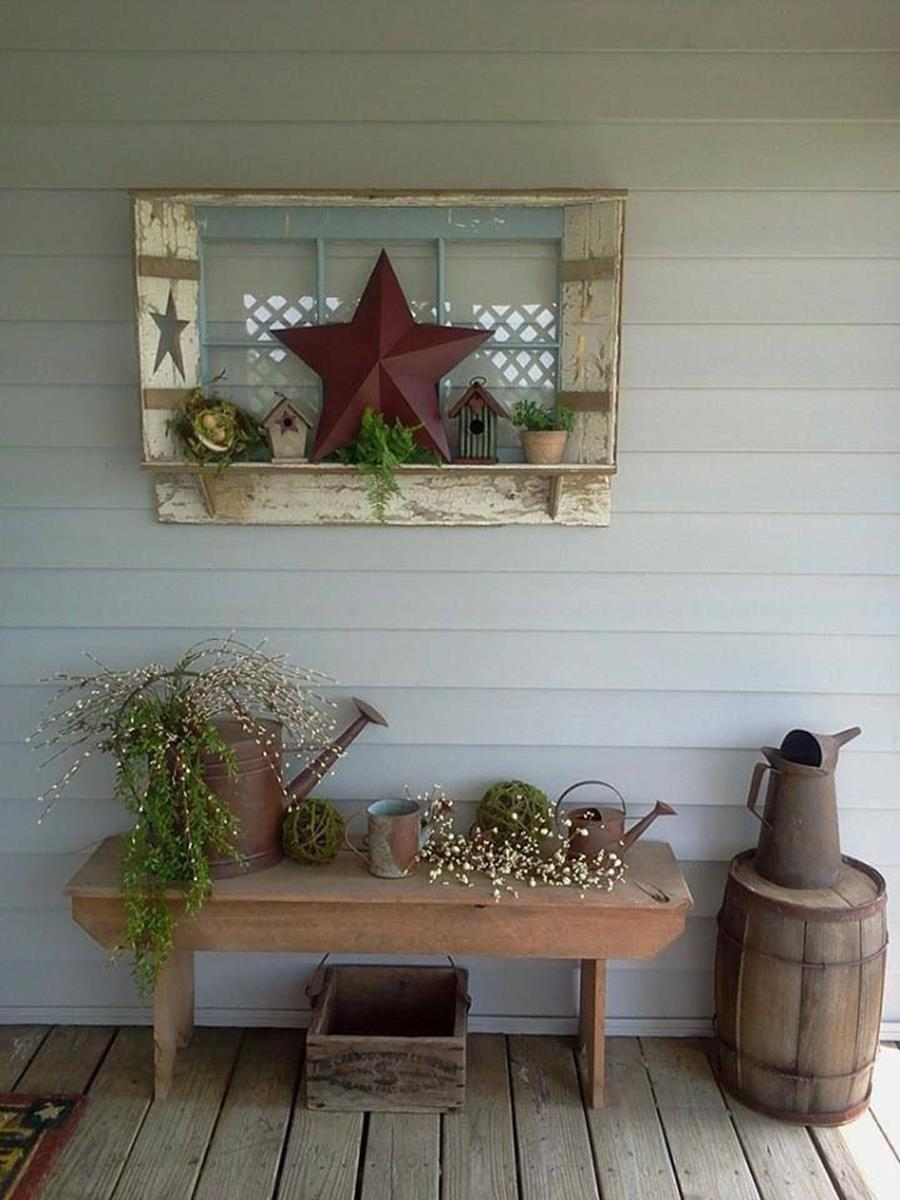 Country Front Porch Spring Decorating Ideas 12