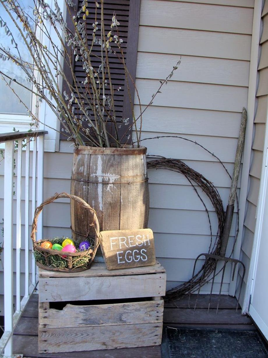 Country Front Porch Spring Decorating Ideas 18