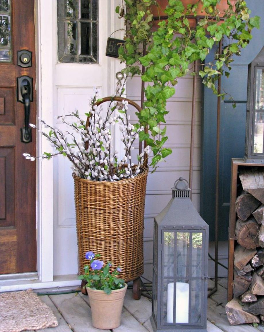 Country Front Porch Spring Decorating Ideas 20