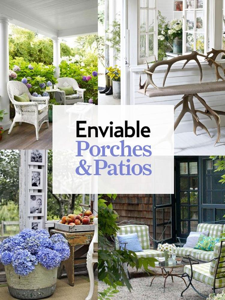 Country Front Porch Spring Decorating Ideas 23
