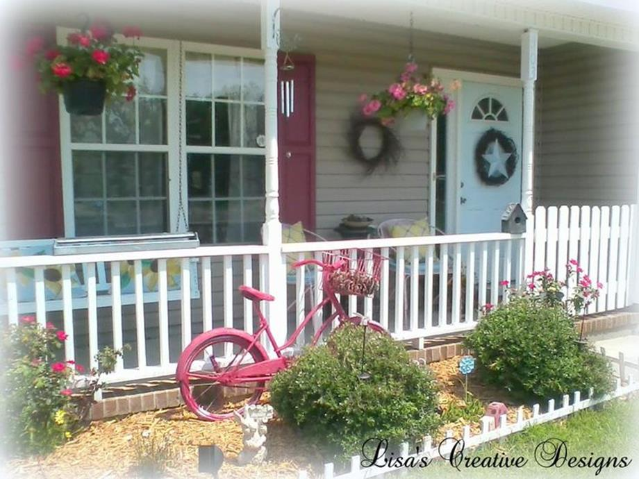 Country Front Porch Spring Decorating Ideas 29