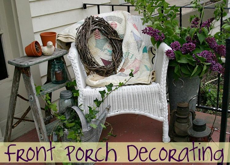 Country Front Porch Spring Decorating Ideas 33
