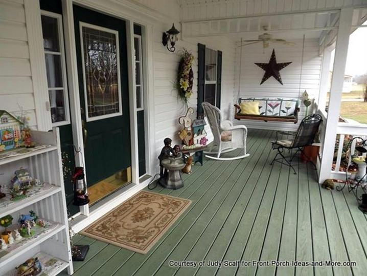 Country Front Porch Spring Decorating Ideas 4