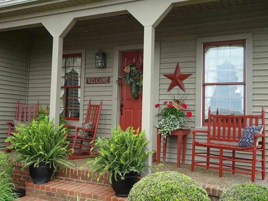 Country Front Porch Spring Decorating Ideas 6